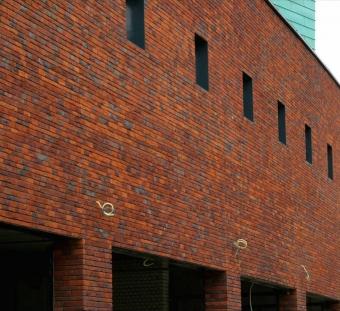 Кирпич ручной формовки Vogelensangh Steenfabriek Antigoon orange red purple sintered